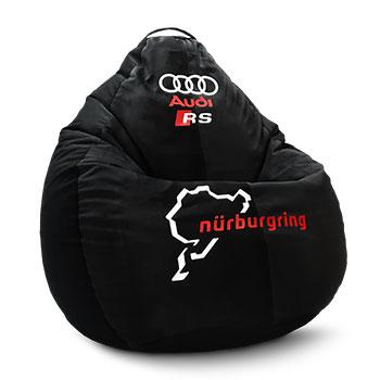 Кресло мешок груша с печатью Audi